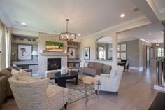 The Matthews Floor Model Showcases A Striking Brick Fireplace From To Ceiling And Mohawk Northland