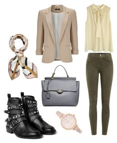 """""""Untitled #57"""" by edlundhallie on Polyvore featuring By Malene Birger, J Brand, MANGO, Wallis, Lanvin, River Island and Henri Bendel"""