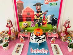 Gabriela M's Birthday / Farm - Photo Gallery at Catch My Party Party Animals, Animal Party, Farm Birthday, 1st Birthday Parties, Farm Animal Cakes, Kids Party Themes, Party Ideas, Farm Theme, Ideas Para Fiestas