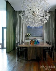 Contemporary Dining Rooms Photos - Modern Dining Room Inspiration Pictures - ELLE DECOR