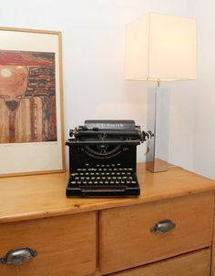 retro typewriter--we have one in Michigan just need to get it to SC for our living room.
