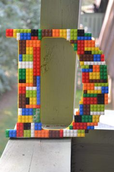 Legos- Nursery- Wooden Letters-  Home Decor- Boys Room- Wall Art- Lego Wall Decor- Lego Art-