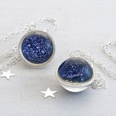 Every Star Necklace - an accurate representation of every visible star in the Northern Hemisphere on one side and the Southern Hemisphere on the reverse.