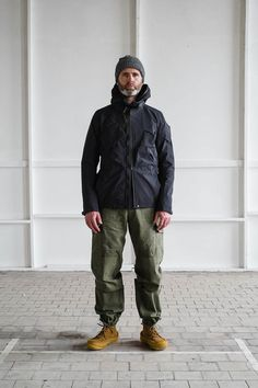 thebureaubelfast:  ACRONYM J47A–GT Black 3L GORE–TEX Interops Jacket, MonitalyUS Army Tent 6 Pocket Pant, Yuketen Earth Moc.