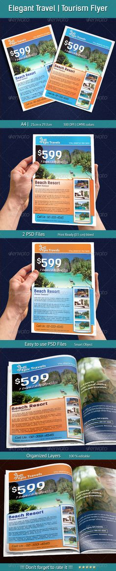 Elegant Travel   Tourism Flyer - Holiday Greeting Cards
