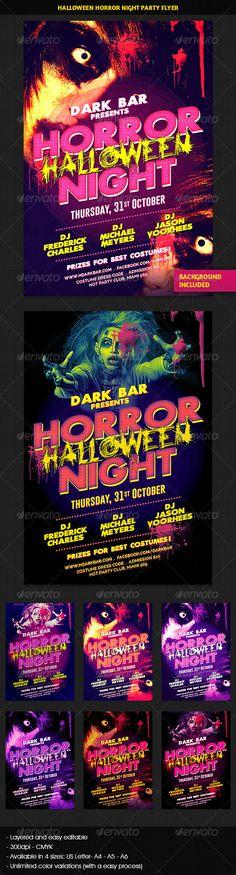 Halloween Horror Night Party Flyer