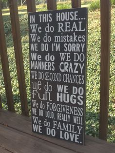In This HOUSE We do LOVE Family Rules by WordsByHeartDesigns
