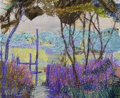 freehand machine embroidery by Fran Brammer, woods near York. Freehand Machine Embroidery, Free Motion Embroidery, Embroidery Ideas, Thread Painting, Textile Artists, Fiber Art, Woods, Fabrics, Textiles