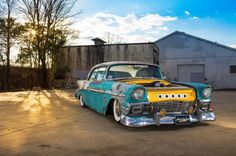No molds or cookie cutters here, just a guy's vision of what he feels a hot rod should be. This 1956 Chevy is truly, and we mean truly, one of a kind. Chevrolet Bel Air, Automotive Art, Automotive Industry, Chevy, Custom Cars, Hot Rods, Transportation, Pure Products, Vehicles