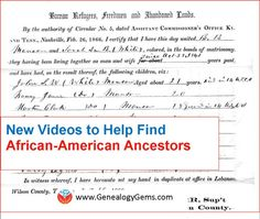 A new series of free FamilySearch videos can help you discover African-American ancestors in Freedmen's Bureau records.