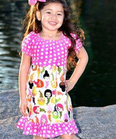 Look what I found on #zulily! White Mermaids Pattycake A-Line Dress - Toddler & Girls #zulilyfinds