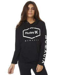 Features Colour: Black Material: 100% cotton Long sleeves Hood with drawcord  Tail hem at back Logo print at chest & sleeveSize + Fit Guide Model's Height: 172cm Model's Bust: 86cm Model's Waist: 66cm Model's Waist: 66cm Model's Hips: 86cm Model wears a Size: 8