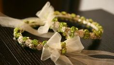 Green And Ivory Flower Crown