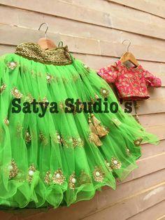 Baby Girl Party Dresses, Birthday Dresses, Little Girl Dresses, Baby Dress, Girls Dresses, Baby Girl Lehenga, Kids Lehenga, Kids Indian Wear, Kids Ethnic Wear