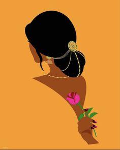Indian Illustration, Illustration Art Drawing, Woman Illustration, Modern Indian Art, Indian Folk Art, Peacock Sketch, Indian Art Gallery, Rajasthani Art, Pop Art Drawing