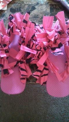 Bandana flip flops