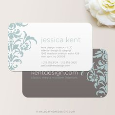 Bold Damask Business Card / Calling Card / by MalloryHopeDesign