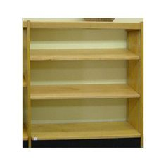 "W.C. Heller Open Back Single Face Shelf Standard Bookcase Finish: Spiced Walnut, Size: 42"" H x 36"" W x 8"" D"