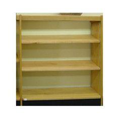 """W.C. Heller Open Back Single Face Shelf Standard Bookcase Size: 48"""" H x 37.75"""" W x 8"""" D, Finish: Spiced Walnut"""