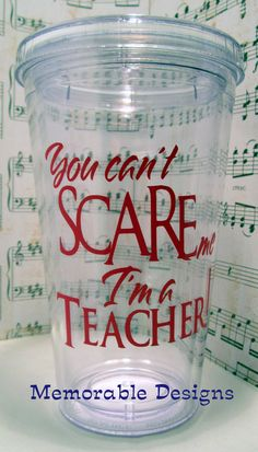 Teacher Tumbler Personalized Acrylic tumbler...we need to get these at our welcome back picnic.