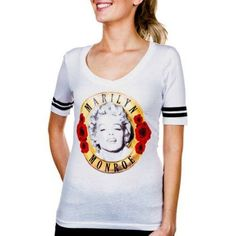 Juniors' Marilyn Monroe Graphic Boyfriend Tee, White