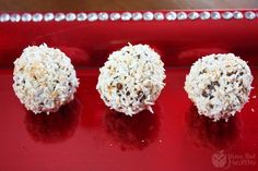 Snowballs - the original recipe, plus an alternate recipe that is a sugar-free with added protein healthier version.