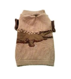 Small Alligator Designer Dog Sweater