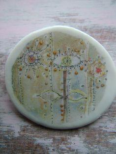 Emma Louise Wilson - ceramic brooch