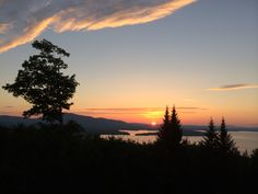 Sunset over Moosehead Lake, Greenville, Maine
