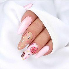 Nail Shapes - My Cool Nail Designs Edge Nails, My Nails, Glow Nails, Square Oval Nails, Round Nails, Beautiful Nail Designs, Cool Nail Designs, Ongles Roses Clairs, Barbie Pink Nails