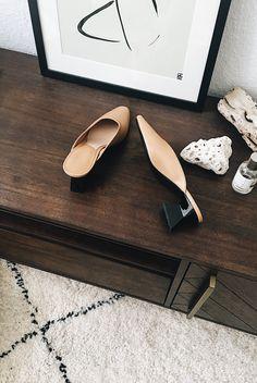 MANGO leather mules | @andwhatelse