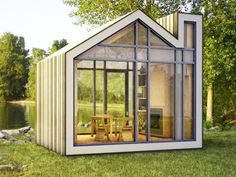Bunkie is a tiny prefab house from 608 Design and BLDG Workshop.