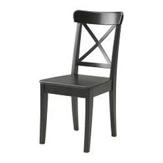 INGOLF Chair - brown-black - IKEA-A chair for your sewing table.  Black / brown colour would be a nice contrast if you choose light wood shelving & work tables.