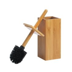 This sleek and Stylish Toilet Brush In Natural Bamboo Or Espresso looks like a simply stylish bathroom decor accent, but lift the brush out of the holder and it revels itself as a functional cleaning Toilet Accessories, Decorative Accessories, Bamboo Bathroom, Bath Fixtures, Outdoor Garden Furniture, Toilet Brush, Toilet Bowl, Bath Decor