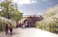 Natural History Museum Proposal / Kengo Kuma & Associates + Erik Møller Arkitekter + JAJA Architects,greenhouses