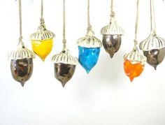 Ceramic acorn ornaments