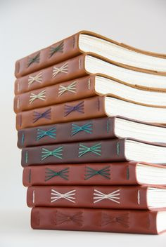 Lots of leather books!