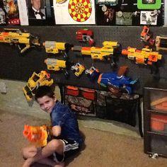 Nerf gun organizer