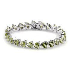 Liquidation Channel | Hebei Peridot Bracelet in Platinum Overlay Sterling Silver (Nickel Free)