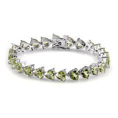 Liquidation Channel | Hebei Peridot Bracelet in Platinum Overlay Sterling Silver (Nickel Free)