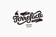 Hand drawn logotype designed by Fork for Russian coffee roaster Torrefacto