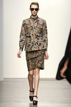 Rachel Comey spring '13: print cargo jacket with print skirt