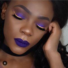 Up and coming artist feature : @makeupbyriakolf #makeupforblackwomen