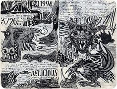 Sketchbook drawings by Sarah King. Sketchbook Drawings, Sketches, Sarah King, Bic Pens, Tangle Doodle, 2 Pencil, Sketchbook Inspiration, Altered Art, Mandala