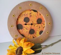 Clock that uses grommets, from Craft Gossip Recycled Crafts