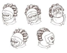Zhangpo Face Sketches from Drakengard 2