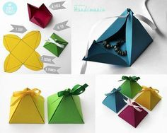 to DIY Simple Paper Pyramid Gift Box Origami Box PyramidOrigami Box Pyramid box pyramid How to DIY Simple Paper Pyramid Gift Box Origami Box Pyramid Diy Gift Box, Paper Gift Box, Diy Box, Paper Gifts, Gift Boxes, Paper Boxes, Paper Basket, Favour Boxes, Cute Gifts
