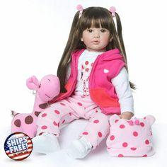 Princess Big Toddler Baby Girl Doll Cotton Silicone Princesa Nino Muneca Algodó #DollForToddlers Reborn Baby Girl, Reborn Toddler Dolls, Reborn Dolls, Baby Doll Toys, Baby Girl Dolls, Baby Doll Clothes, Silicone Reborn Babies, Silicone Baby Dolls, Wiedergeborene Babys