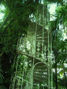 Outdoor Spiral Staircase