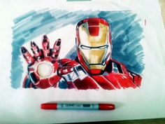 Iron man marker rendering on layout pad a3 size